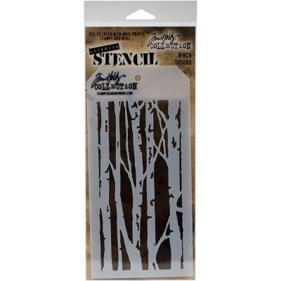 "Tim Holtz - Layered Stencil «Birch»  4.125"" X 8.5"""