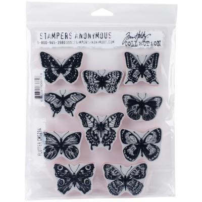 """Tim Holtz  - Flutter Cling Stamps 7""""X 8.5""""5"""" 10 modèles différents"""
