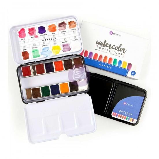 "Prima - Watercolor Confections palette ""Odyssey"""