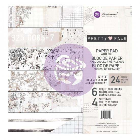 Prima Marketing - Papier collection «Pretty Pale»  24 feuilles de 12'' X 12''