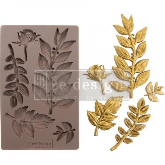Prima Marketing - Moule Re-Design «Leafy Blossoms»