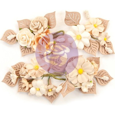 Prima Flowers - Collection Pretty Pale «Rustic Floral» 4 pièces