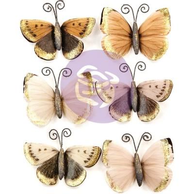 Prima - «Pretty Pale Paper Butterflies»  paquet de 6