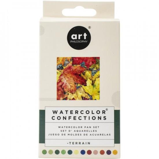 "Prima - Watercolor Confections palette ""Terrain"""