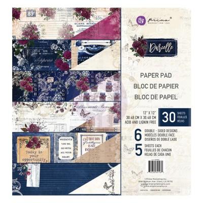 """Prima - Bloc de papier collection «Darcelle» 12"""" x 12""""  30 feuilles"""