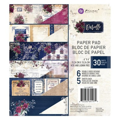 "Prima - Bloc de papier collection «Darcelle» 6"" X 6""  30 feuilles"