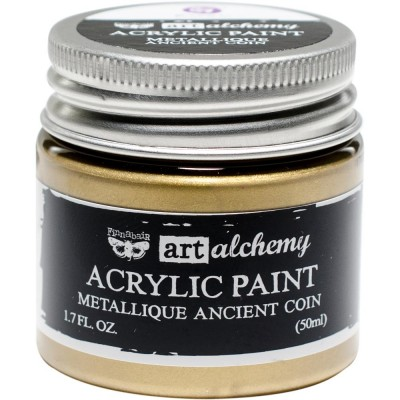 Finnabair Art Alchemy - Peinture acrylique «Métallique» couleur «Ancient coin»  1.7 oz