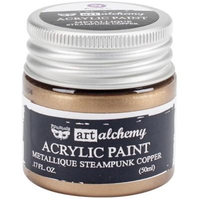 Finnabair Art Alchemy - Peinture acrylique «Métallique» couleur «Steampunk Copper»  1.7 oz