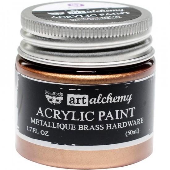 Finnabair Art Alchemy - Peinture acrylique «Métallique» couleur «Brass Hardware»  1.7 oz