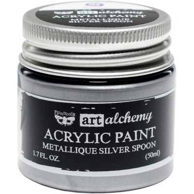 Finnabair Art Alchemy - Peinture acrylique «Métallique» couleur «Silver Spoon»  1.7 oz
