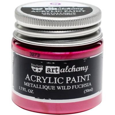 Finnabair Art Alchemy - Peinture acrylique «Métallique» couleur «Wild Fuchsia»  1.7 oz