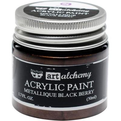 Finnabair Art Alchemy - Peinture acrylique «Métallique» couleur «Black Berry»  1.7 oz