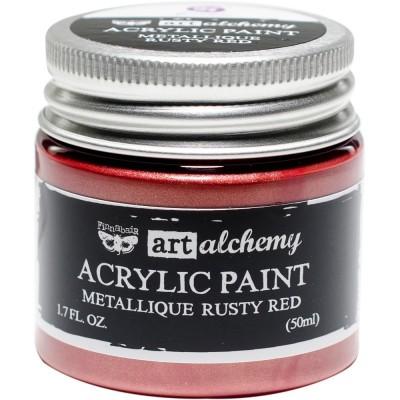 Finnabair Art Alchemy - Peinture acrylique «Métallique» couleur «Rusty Red»  1.7 oz