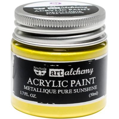 Finnabair Art Alchemy - Peinture acrylique «Métallique» couleur «Pure Sunshine»  1.7 oz