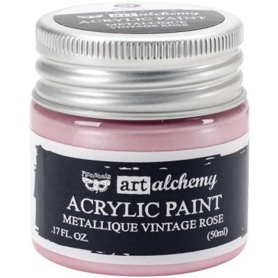Finnabair Art Alchemy - Peinture acrylique «Métallique» couleur «Vintage Rose»  1.7 oz
