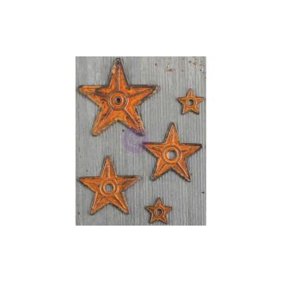 Finnabair - Embellissement «Barn Stars» métallique vintage 5 pièces