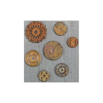 Finnabair - Embellissement «Rustic Washers» paquet de 7