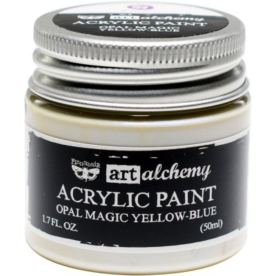 Finnabair Art Alchemy - Peinture acrylique «Opal Magic» couleur «Yellow/Blue»  1.7 oz