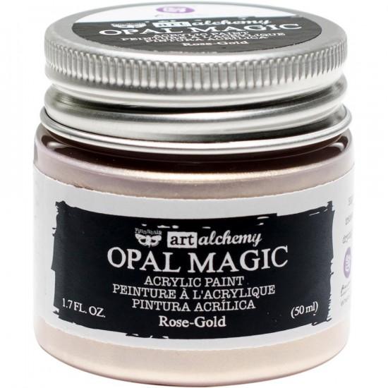 Finnabair Art Alchemy - Peinture acrylique «Opal Magic» couleur «Aqua/Rose»  1.7 oz