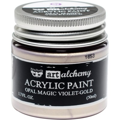 Finnabair Art Alchemy - Peinture acrylique «Opal Magic» couleur «Violet/Gold»  1.7 oz