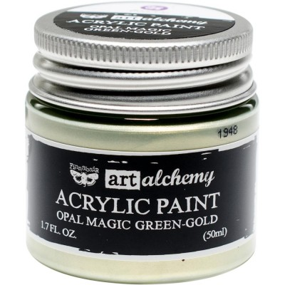 Finnabair Art Alchemy - Peinture acrylique «Opal Magic» couleur «Green/Gold»  1.7 oz