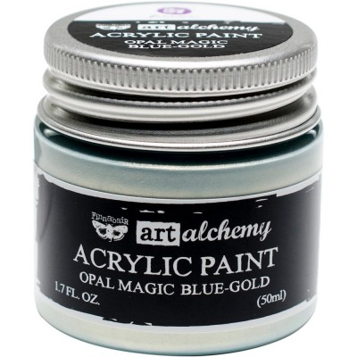 Finnabair Art Alchemy - Peinture acrylique «Opal Magic» couleur «Blue/Gold»  1.7 oz