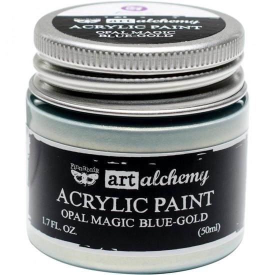 Finnabair Art Alchemy - Peinture acrylique «Opal Magic» couleur «Blue/Gold»  1.7 oz