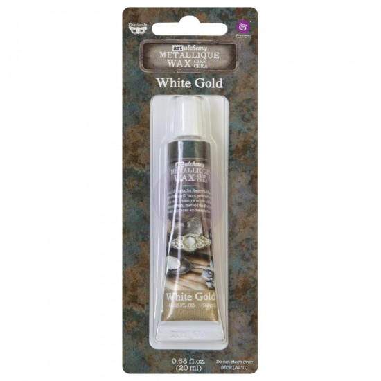 Finnabair - Art Alchemy cire brillante antique  couleur «White Gold»