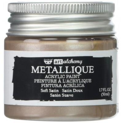 Finnabair Art Alchemy - Peinture acrylique «Métallique» couleur «Soft Satin»  1.7 oz