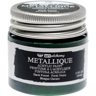 Finnabair Art Alchemy - Peinture acrylique «Métallique» couleur «Dark Forest»  1.7 oz