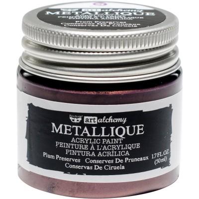 Finnabair Art Alchemy - Peinture acrylique «Métallique» couleur «Plum Preserves»  1.7 oz
