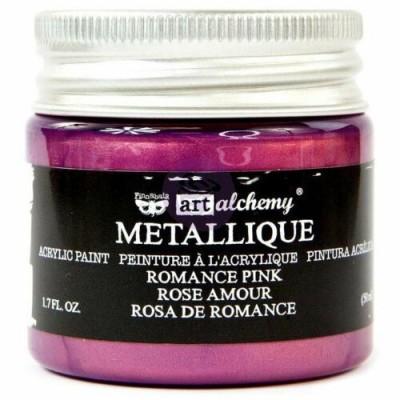 Finnabair Art Alchemy - Peinture acrylique «Métallique» couleur «Romance Pink»  1.7 oz