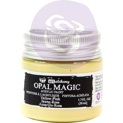 Finnabair Art Alchemy - Peinture acrylique «Opal Magic» couleur «Yellow/Pink»  1.7 oz