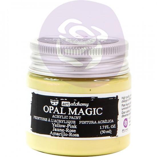 Finnabair Art Alchemy - Peinture acrylique «Opal Magic» couleur «Yellow/Pink»  1.7 oz
