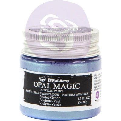 Finnabair Art Alchemy - Peinture acrylique «Opal Magic» couleur «Violet/Green»  1.7 oz