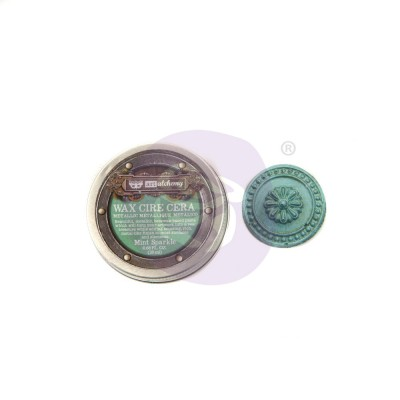 Finnabair - Art Alchemy pâte brillante antique couleur «Mint Sparkle»