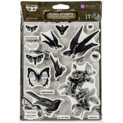 Prima Marketing - Estampe Finnabair «Wild & Free» 17 pcs