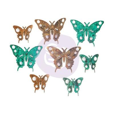 Finnabair - «Scrapyard Butterflies» papillonns en métal paquet de 8 pièces