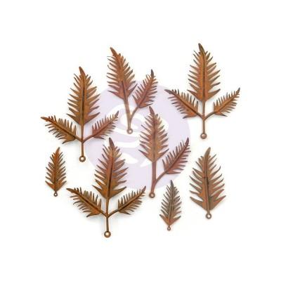 Finnabair - «Woodland Ferns» Feuilles en métal paquet de 8 pièces