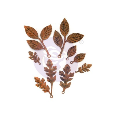 Finnabair - «Woodland Leaves» Feuilles en métal paquet de 8 pièces