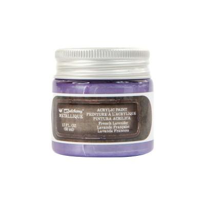 Finnabair Art Alchemy - Peinture acrylique «Métallique» couleur «French Lavender»  1.7 oz
