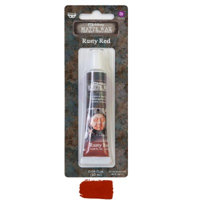 Finnabair - Art Alchemy cire mat couleur «Rusty Red» .68oz