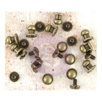 Prima - Embellissement «Metal Knobs» paquet de 24
