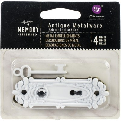 Prima Marketing - Embellissements «Memory Hardware» modèle «Antique Metalware»