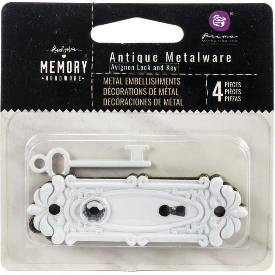Prima Marketing - Embellissements «Memory Hardware» modèle «Antique Metalware»