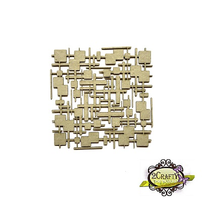 """2 Crafty - Chipboard «6"""" Funky Lines Panel»"""