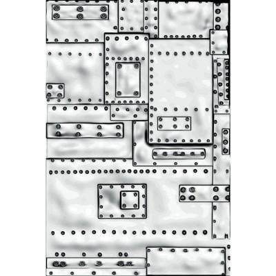 """Sizzix - Plaques à embosser 3D de Tim Holtz «Mini Foundry» 3"""" x 4.5"""""""