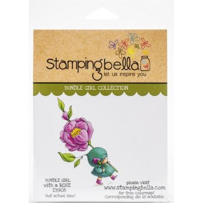 Stamping Bella - estampe «Bundle Girl With A Rose»