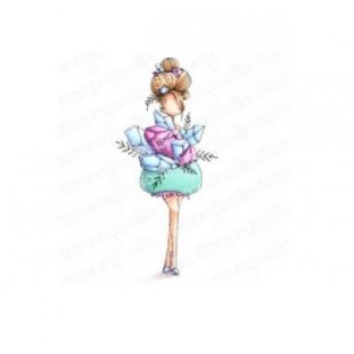 Stamping Bella - estampe «Curvy Girl Collecting Crystals»