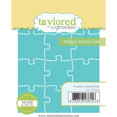 Taylored Expressions - Dies «Puzzled Cutting Plate» ensemble de 12 pièces